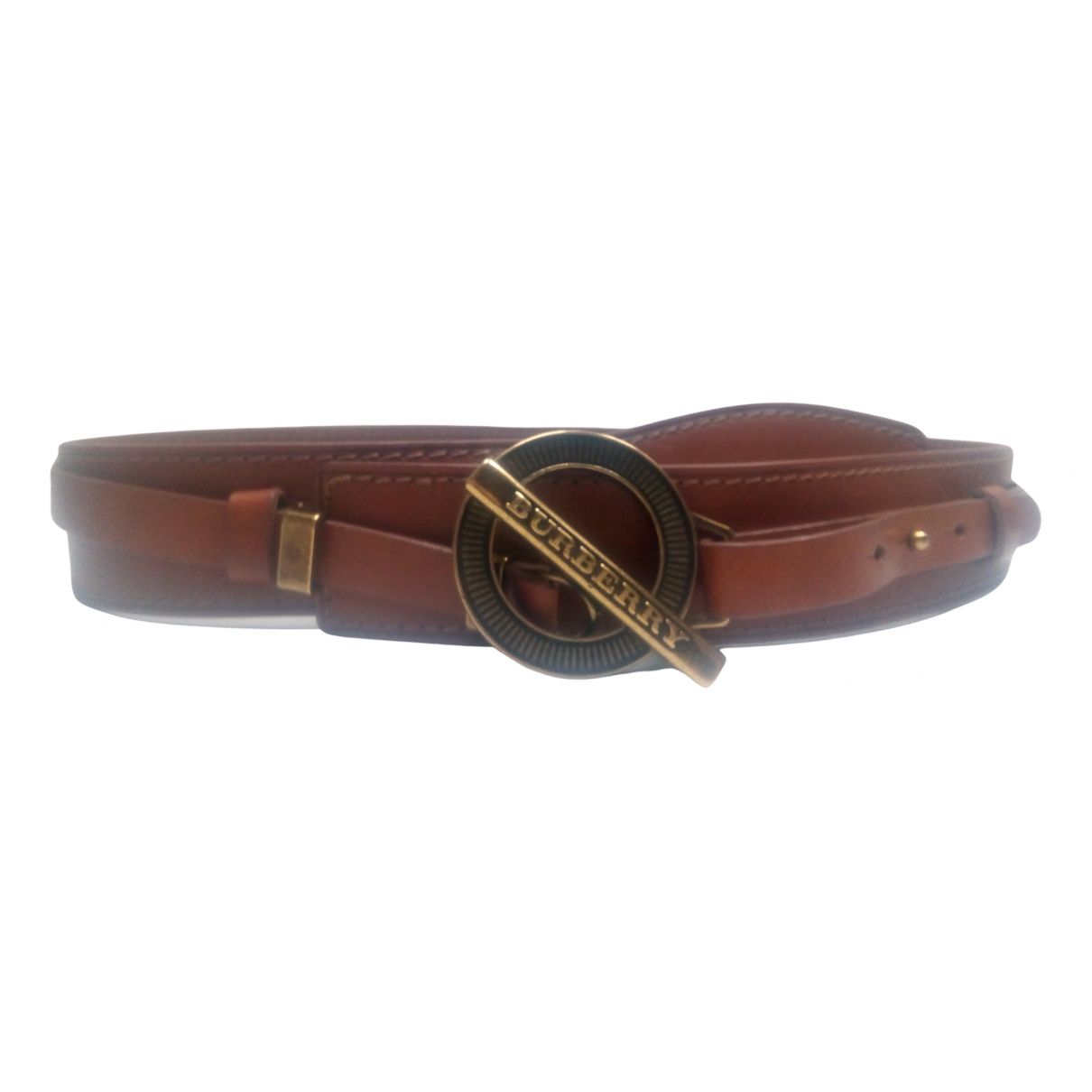 Burberry N Camel Leather belt for Women 85 cm