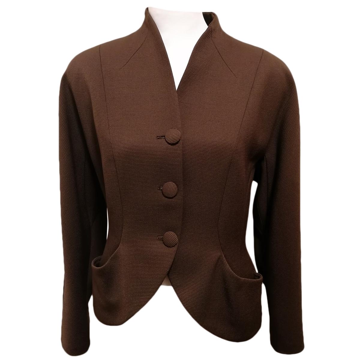 Joseph - Veste   pour femme en laine - marron