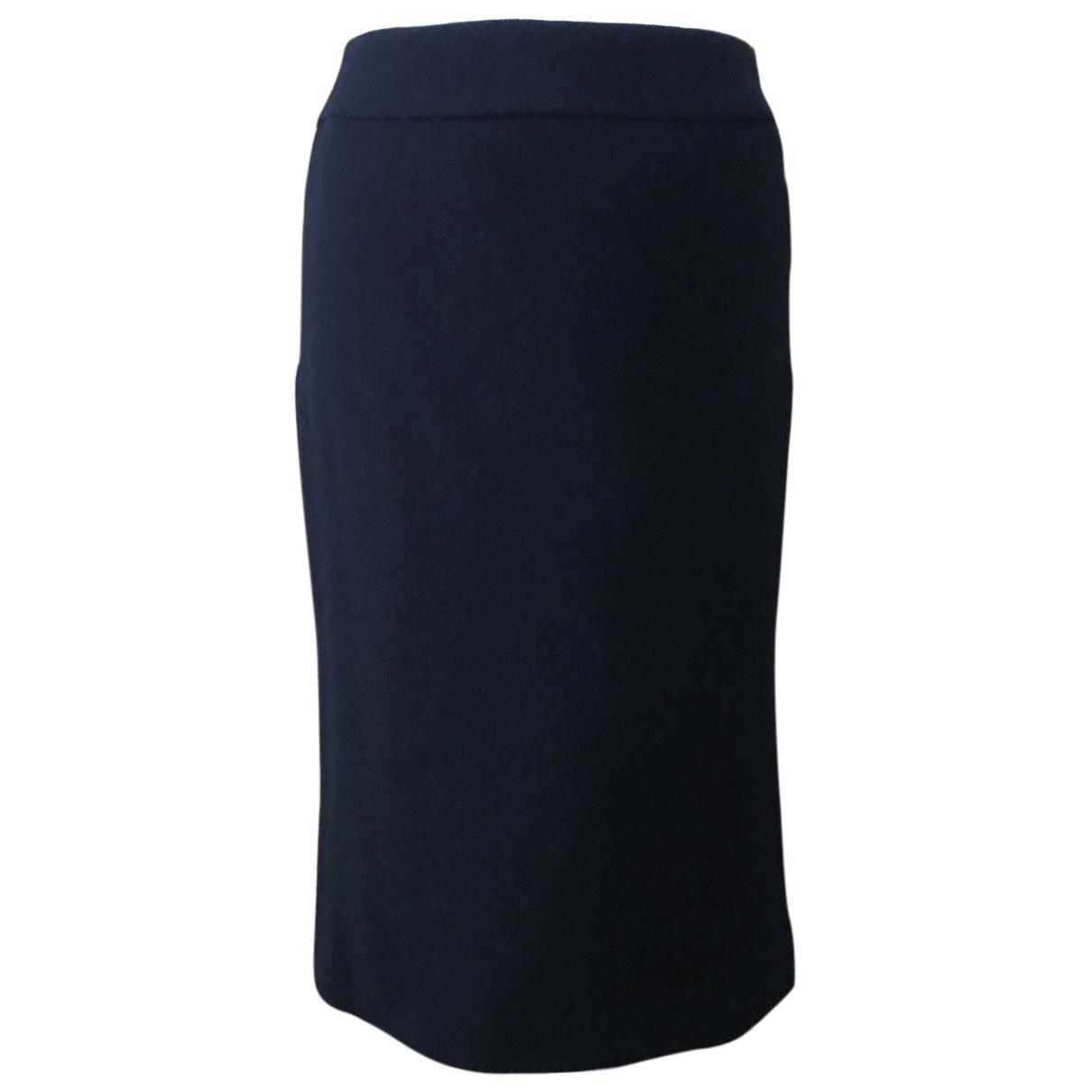 Jil Sander - Jupe   pour femme en cachemire - bleu