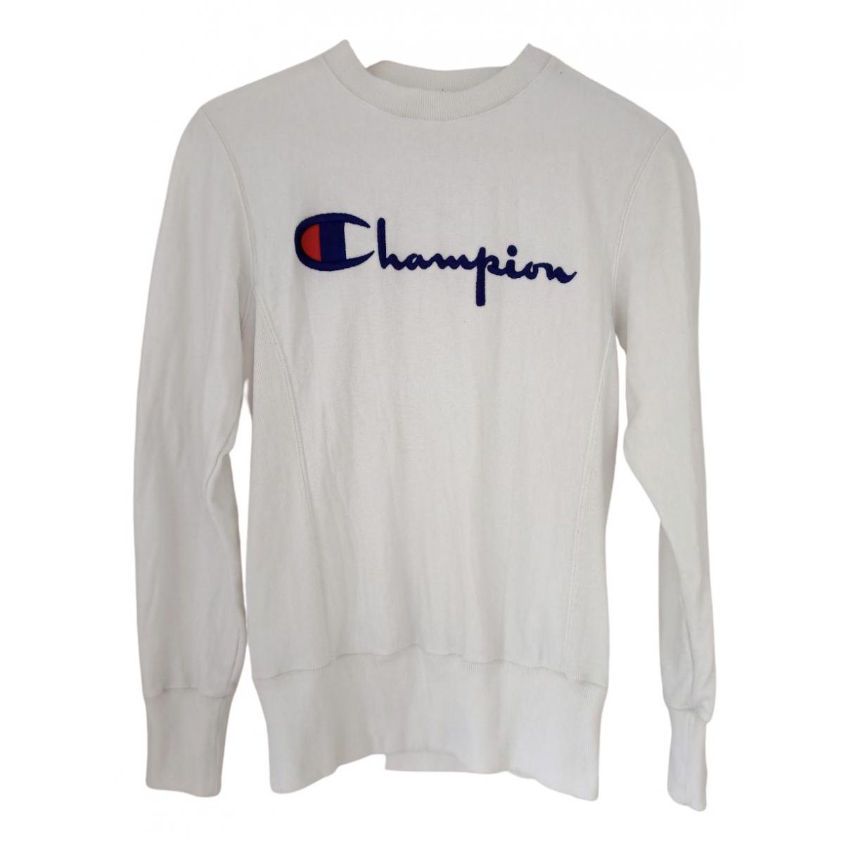 Champion - Pull   pour femme en coton - blanc
