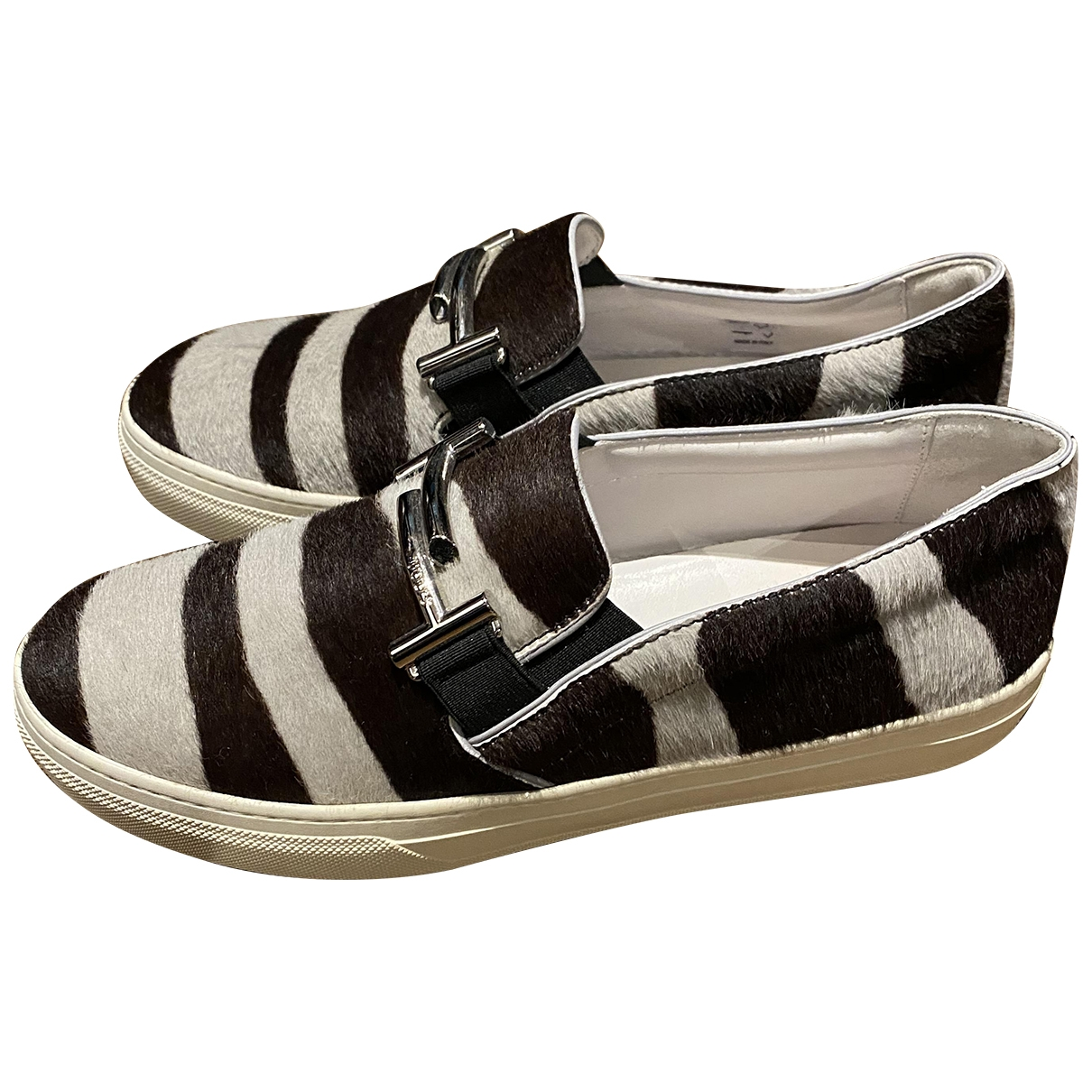 Tod's \N Pony-style calfskin Flats for Women 37 EU