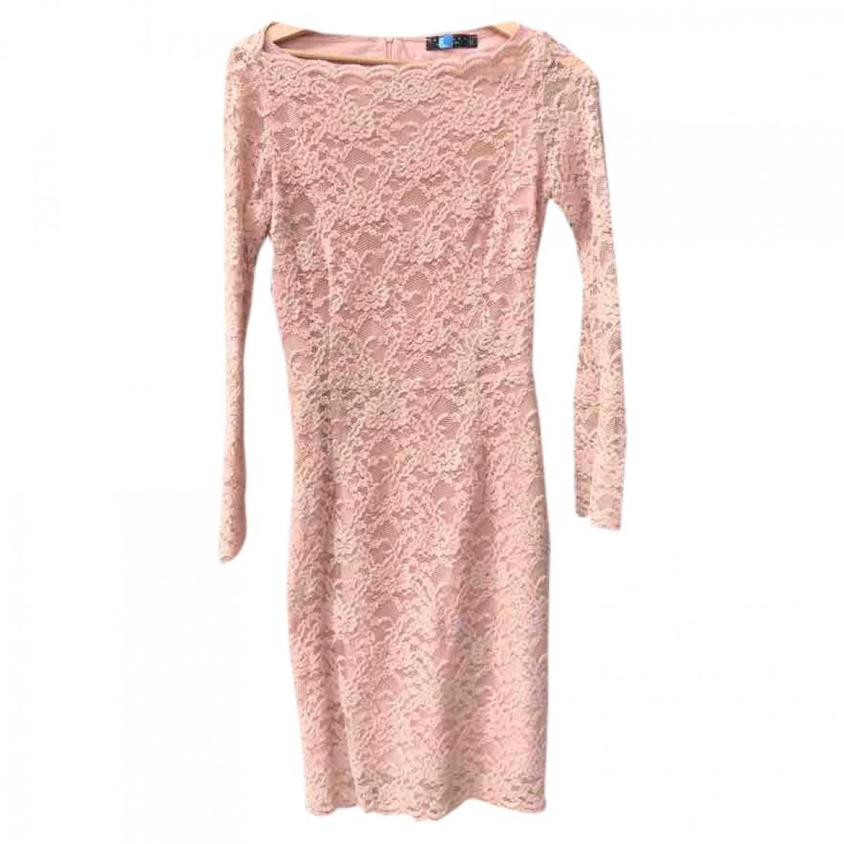 Twin Set - Robe   pour femme en dentelle - rose