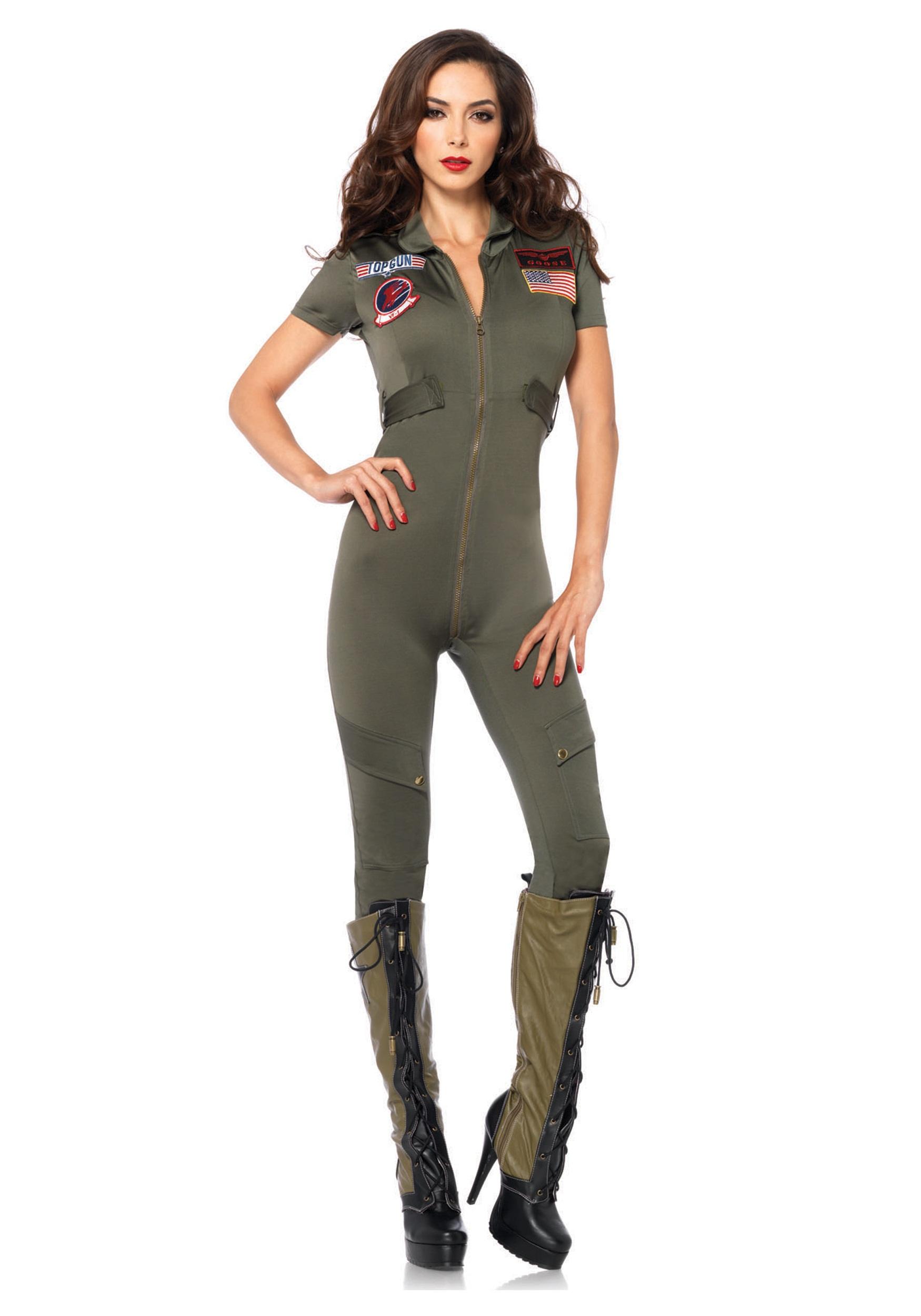 Top Gun Jumpsuit Costume for Women