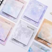 1 Pack Zufaellige Haftnotiz mit Wolke Muster