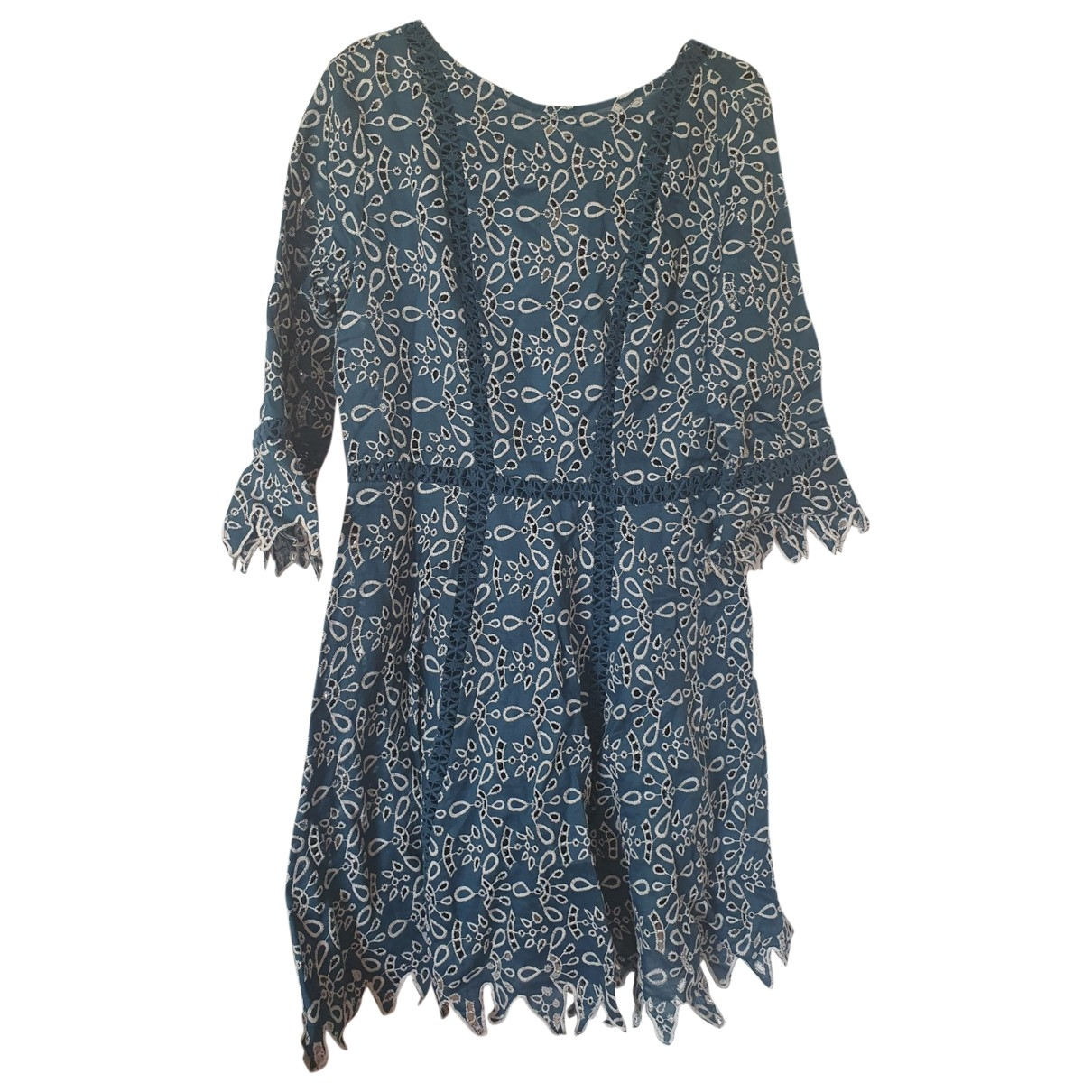 Maje \N Turquoise Cotton dress for Women 40 FR