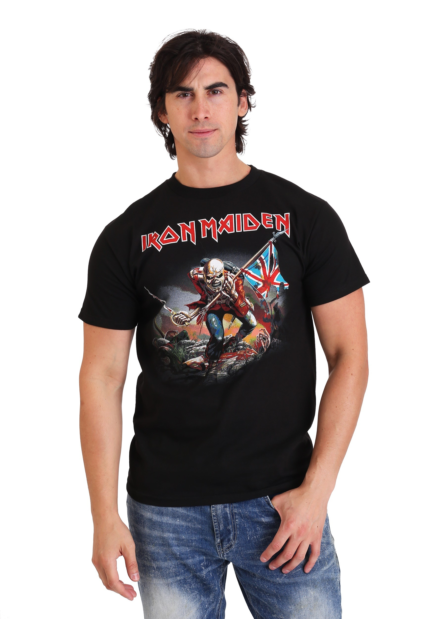 Iron Maiden The Trooper Men's Black T-Shirt