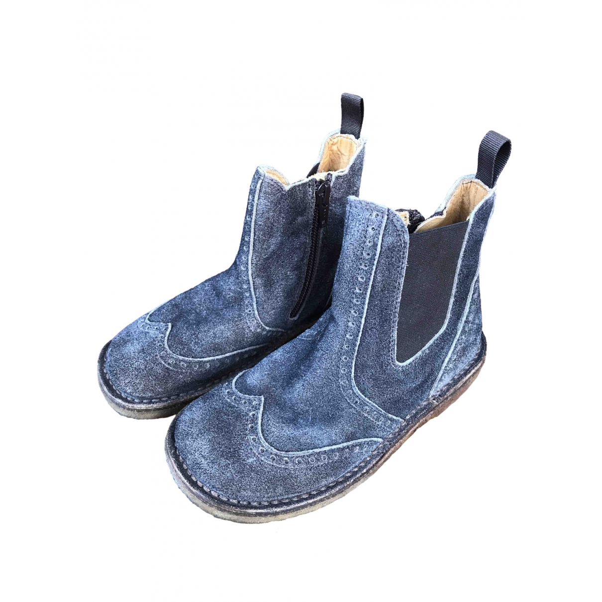 Pepe Children Shoes \N Anthracite Leather Boots for Kids 30 EU