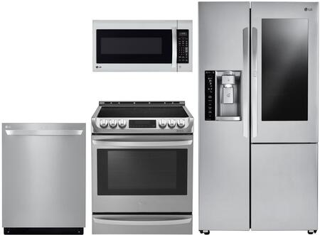 4 Piece Kitchen Appliances Package with LSXC22396S 36