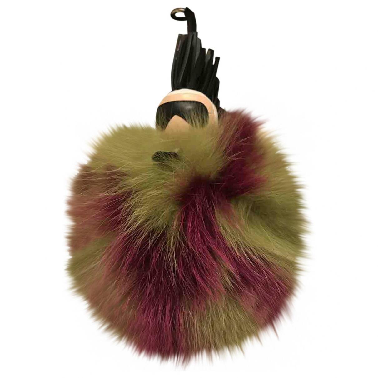 Fendi - Bijoux de sac Pompon Karl pour femme en renard - multicolore