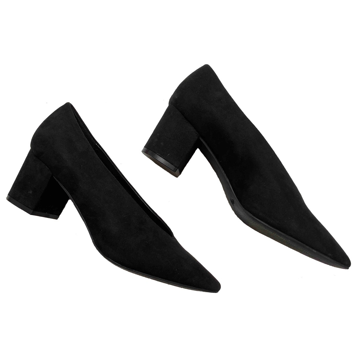 Non Signé / Unsigned \N Black Cloth Heels for Women 40 EU