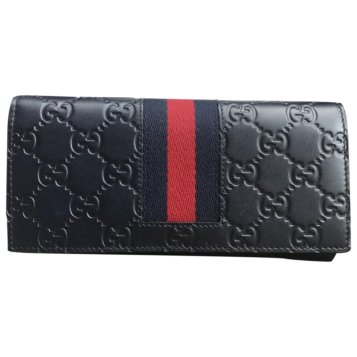 Gucci \N Navy Leather Small bag, wallet & cases for Men \N