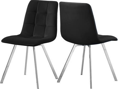 980BLACK-C Annie Black Velvet Dining Chair (Set of