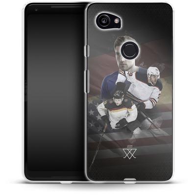 Google Pixel 2 XL Silikon Handyhuelle - Leon Draisaitl America von Leon Draisaitl