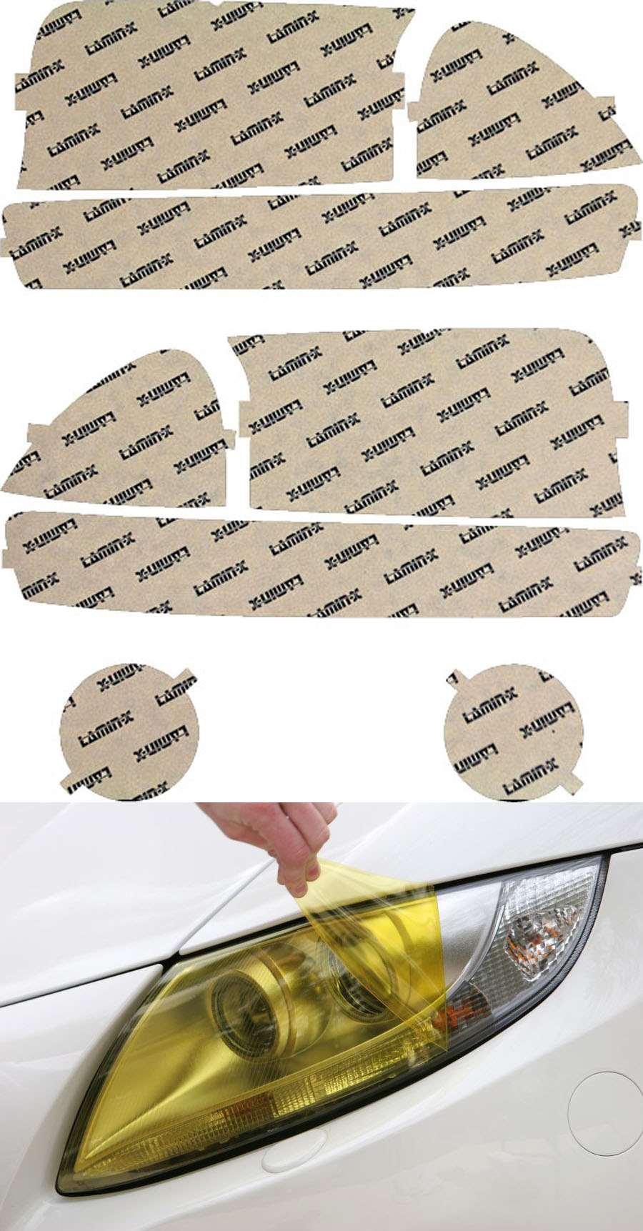 Dodge Dakota 00-04 Yellow Headlight and Turn Signal Kit Lamin-X D004Y