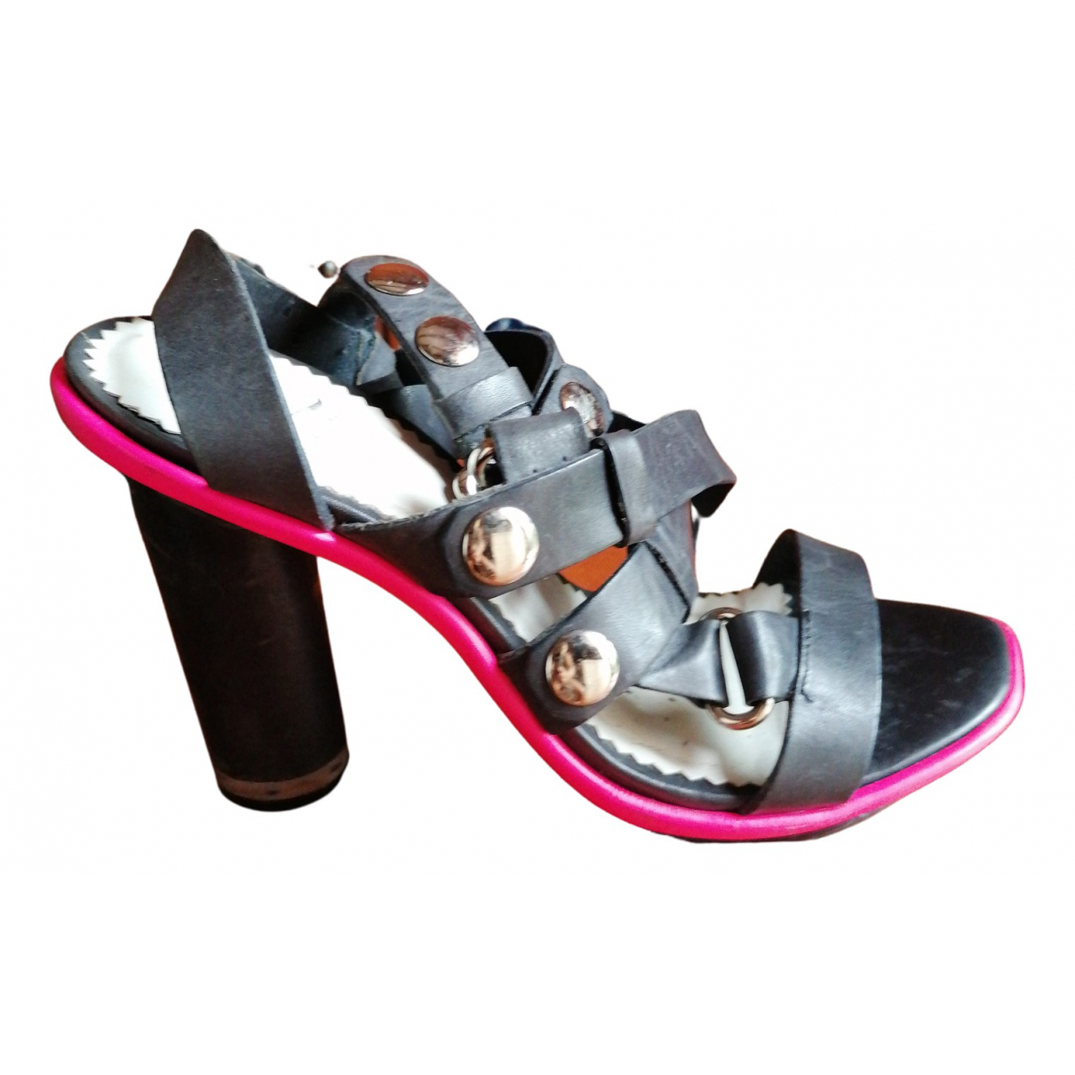 Mcq \N Black Leather Sandals for Women 38 EU