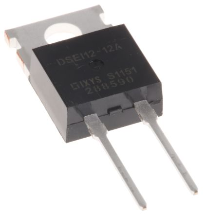 IXYS 1200V 11A, Silicon Junction Diode, 2-Pin TO-220AC DSEI12-12A (5)