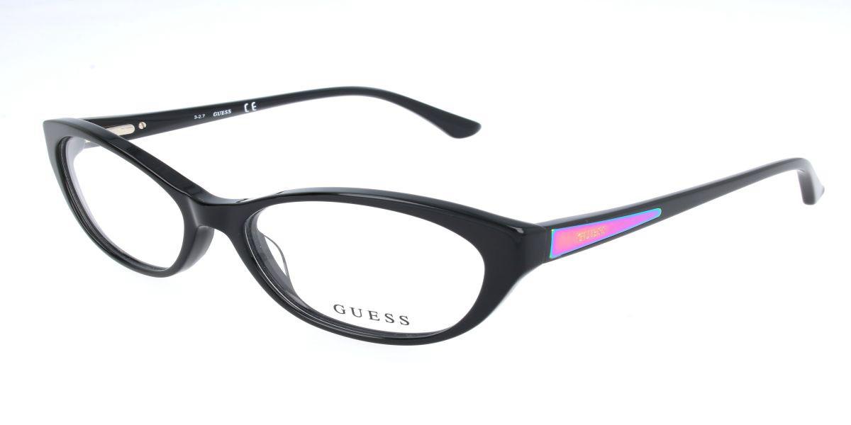 Guess GU 2468 B84 Men's Glasses Black Size 52 - Free Lenses - HSA/FSA Insurance - Blue Light Block Available