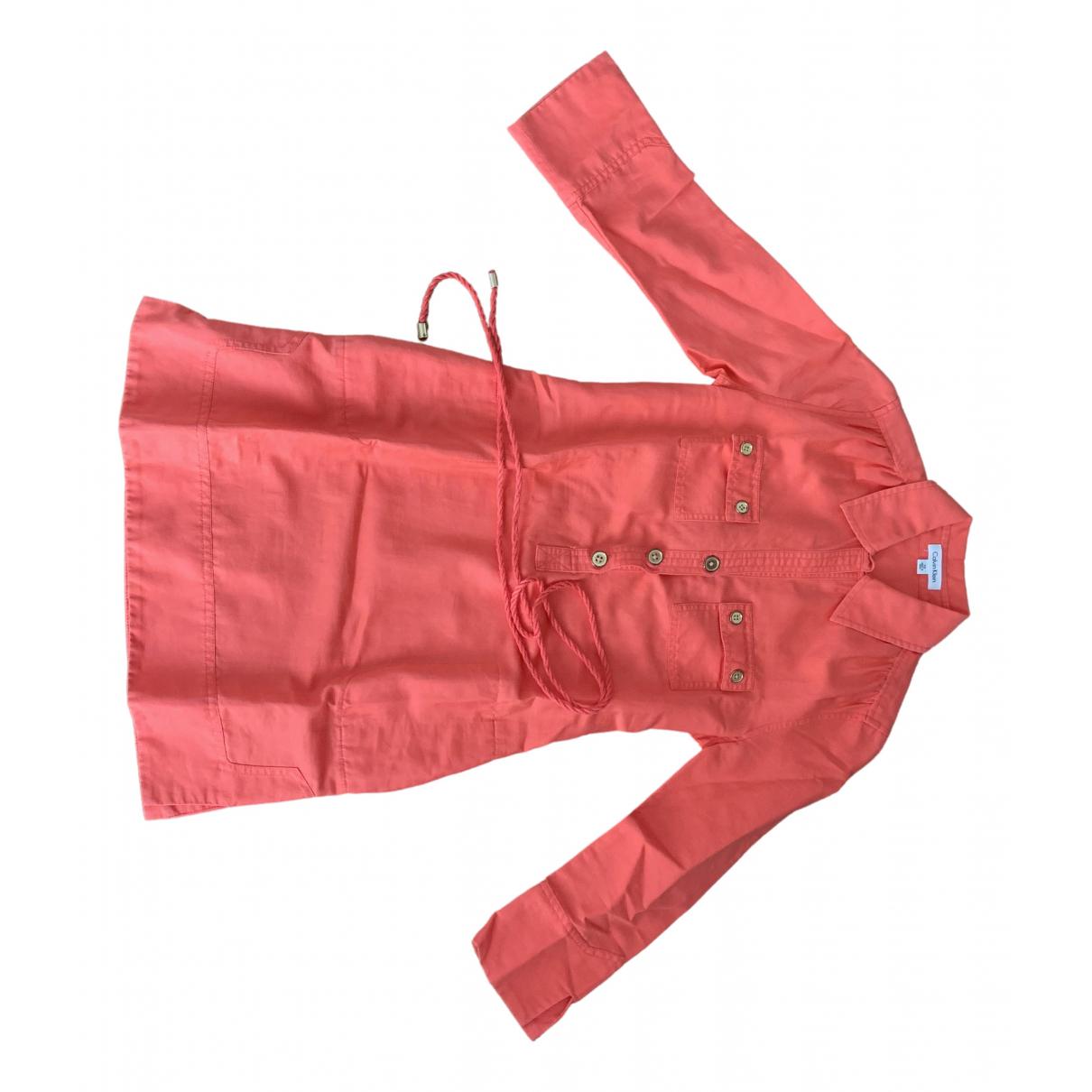 Calvin Klein \N Pink Cotton dress for Women XS International