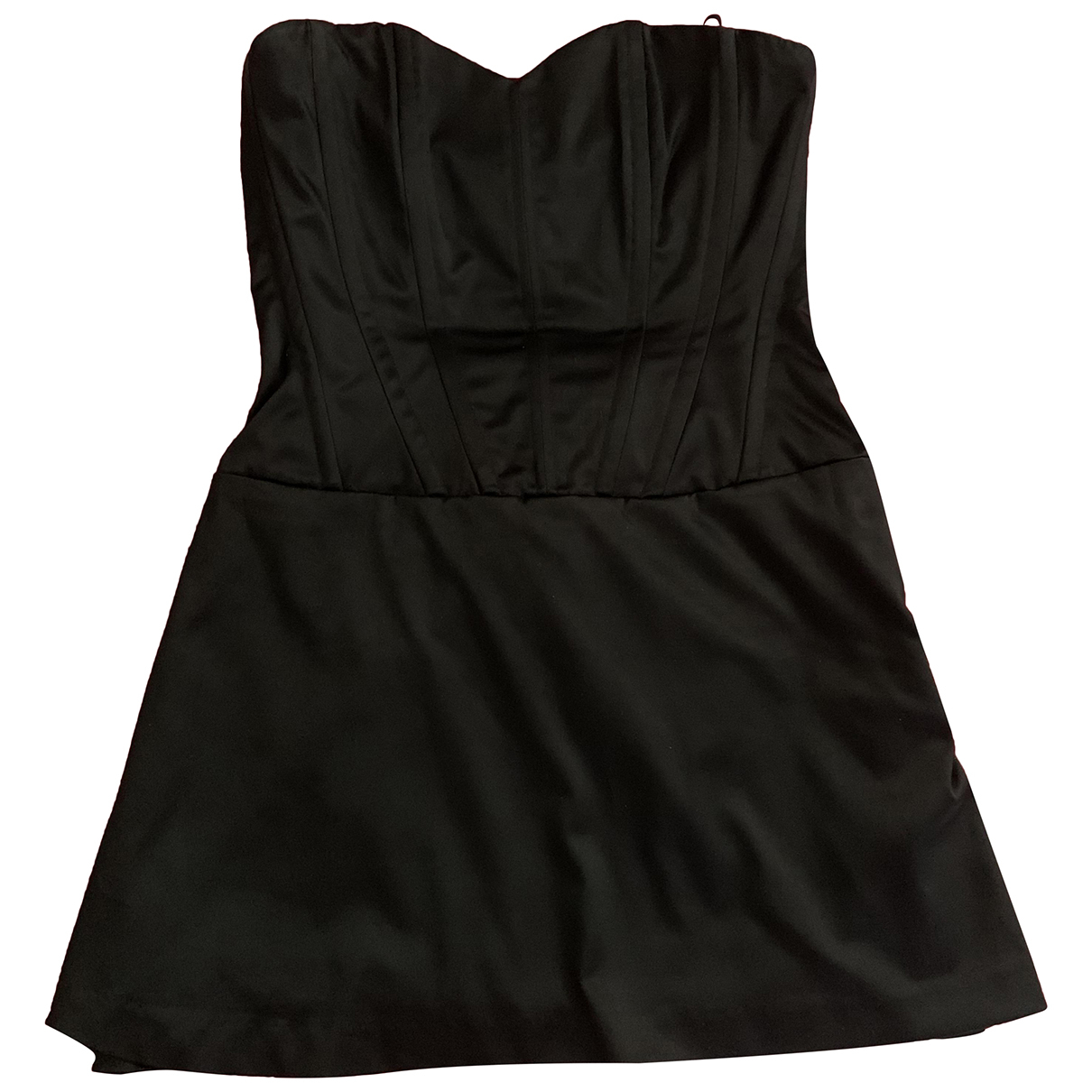 Manoush \N Kleid in  Schwarz Baumwolle - Elasthan