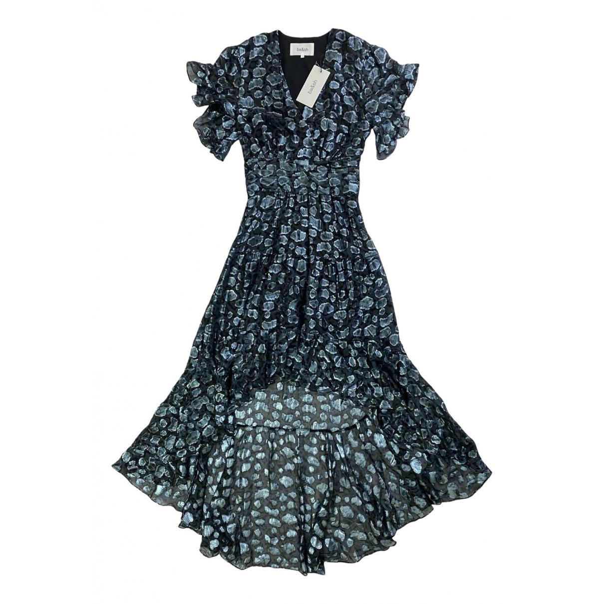Ba&sh \N Kleid in  Blau Seide