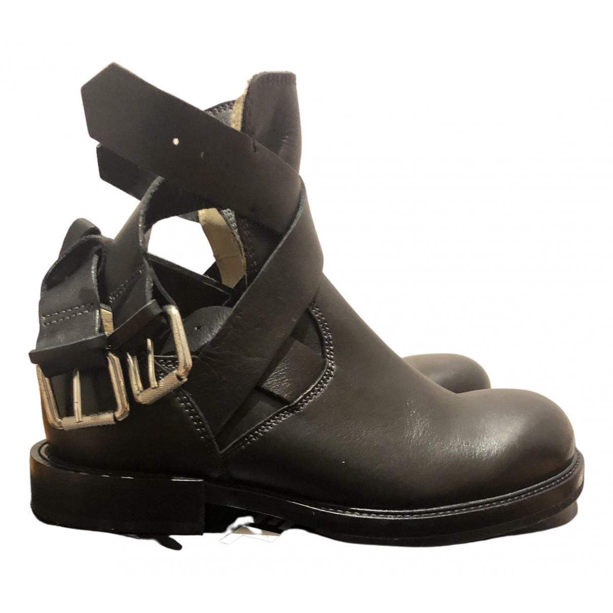 Diesel - Bottes   pour femme en cuir - noir
