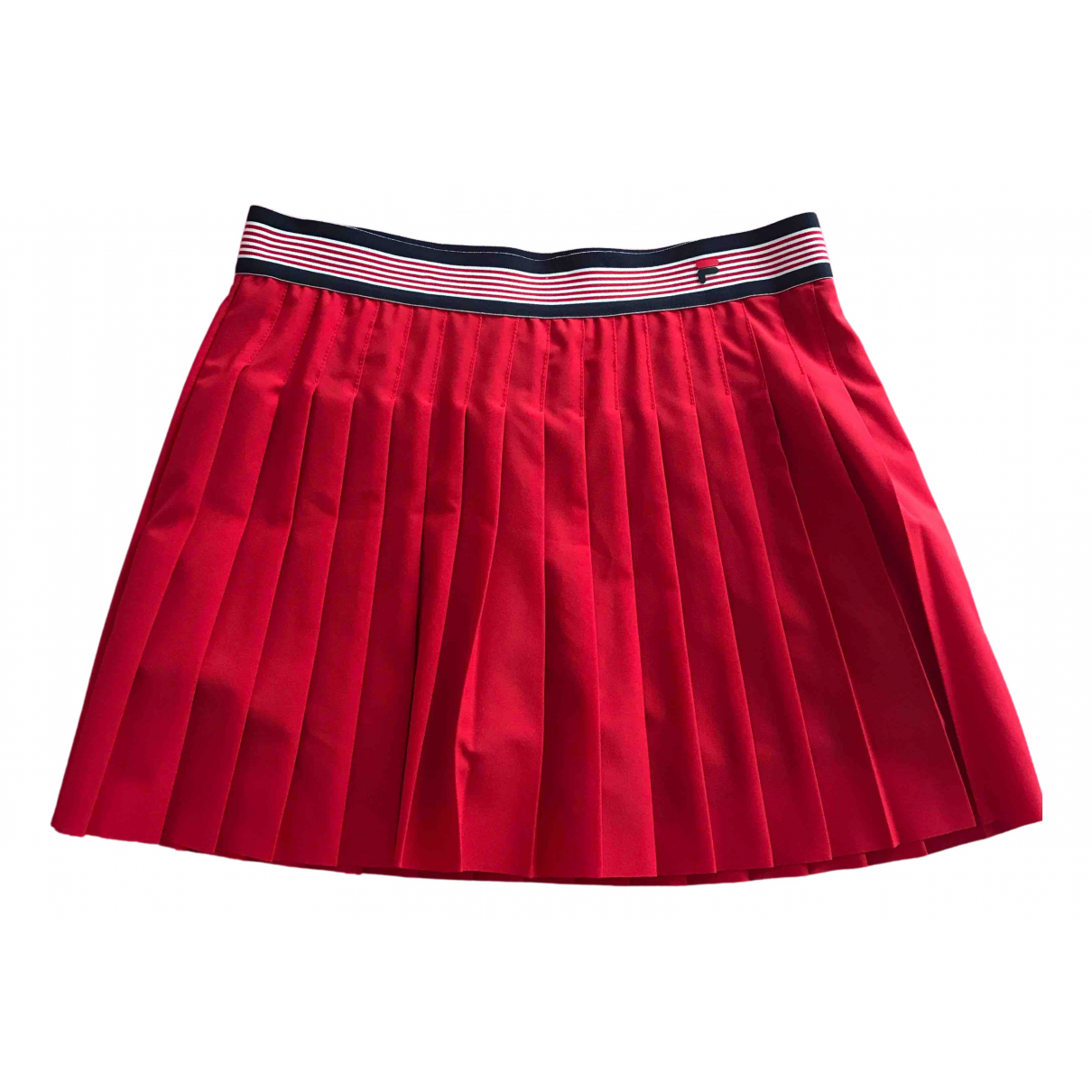 Fila - Jupe   pour femme en coton - elasthane - rouge