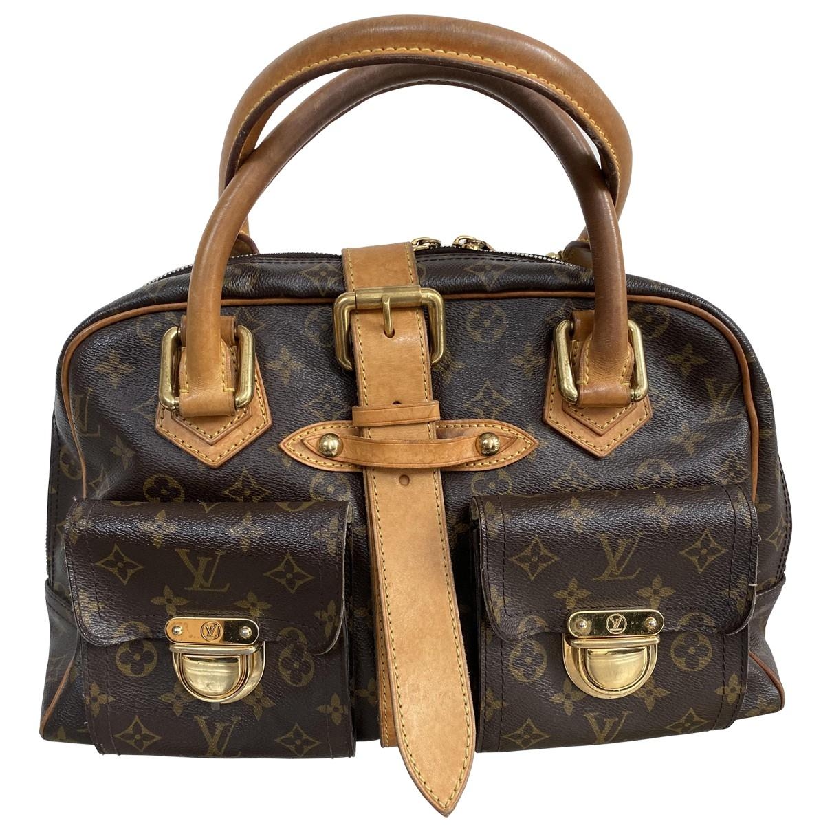 Louis Vuitton Manhattan Handtasche in  Braun Leinen