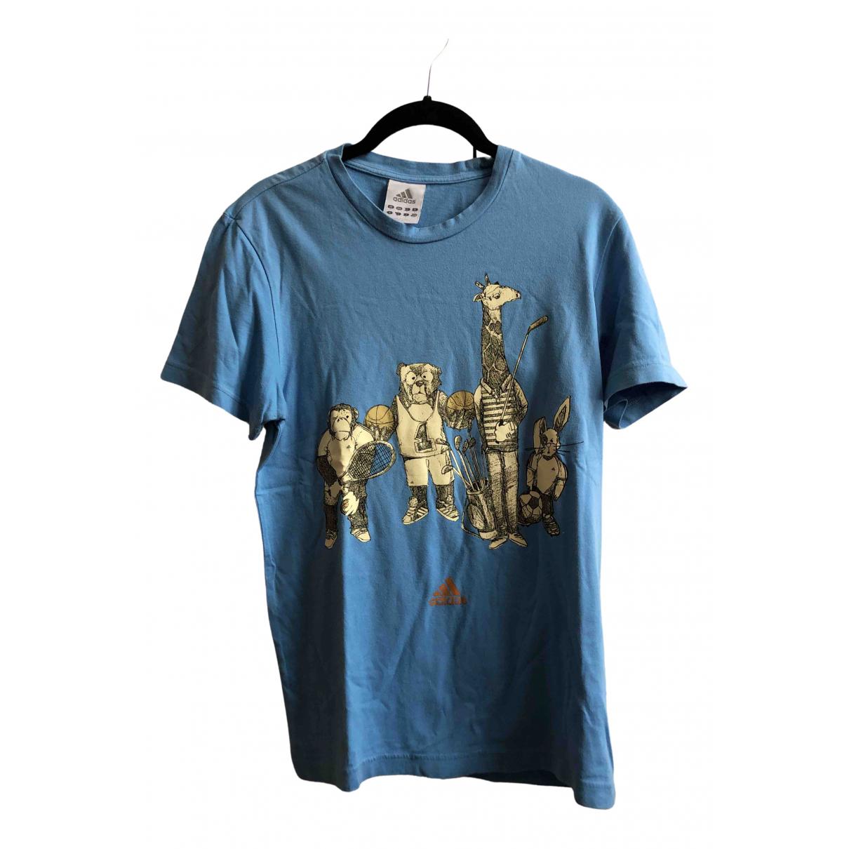 Adidas - Tee shirts   pour homme en coton - turquoise