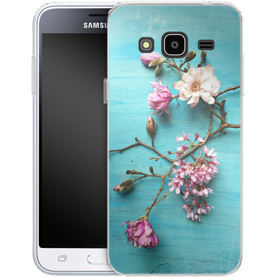 Samsung Galaxy J3 (2016) Silikon Handyhuelle - Flowers of Spring von Joy StClaire