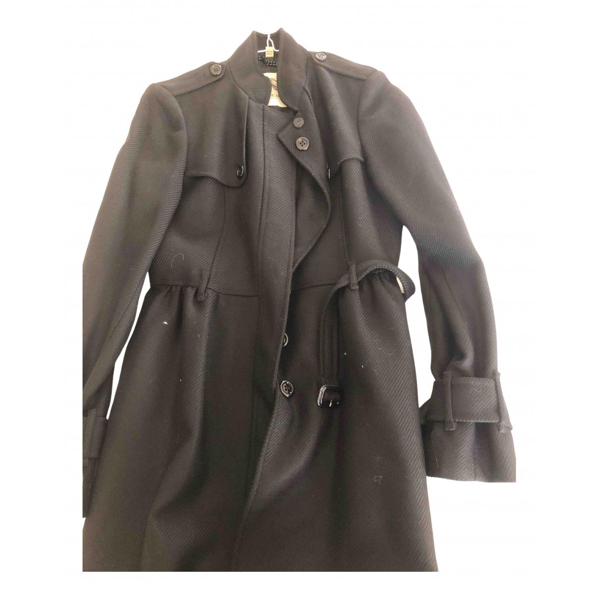 Burberry - Trench   pour femme en laine - noir