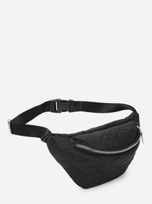 Zipper Front Quilted Fanny Pack
