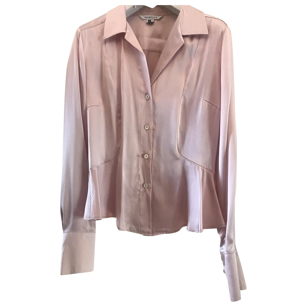 Marella \N Pink Silk  top for Women 44 IT