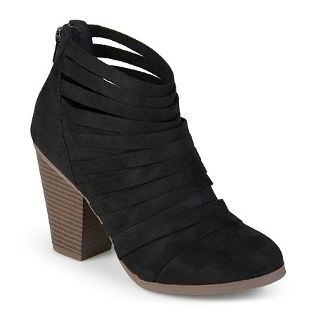 Journee Collection Womens Selena Strappy Ankle Booties, 8 Medium, Black