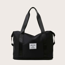 Letter Patch Tote Bag