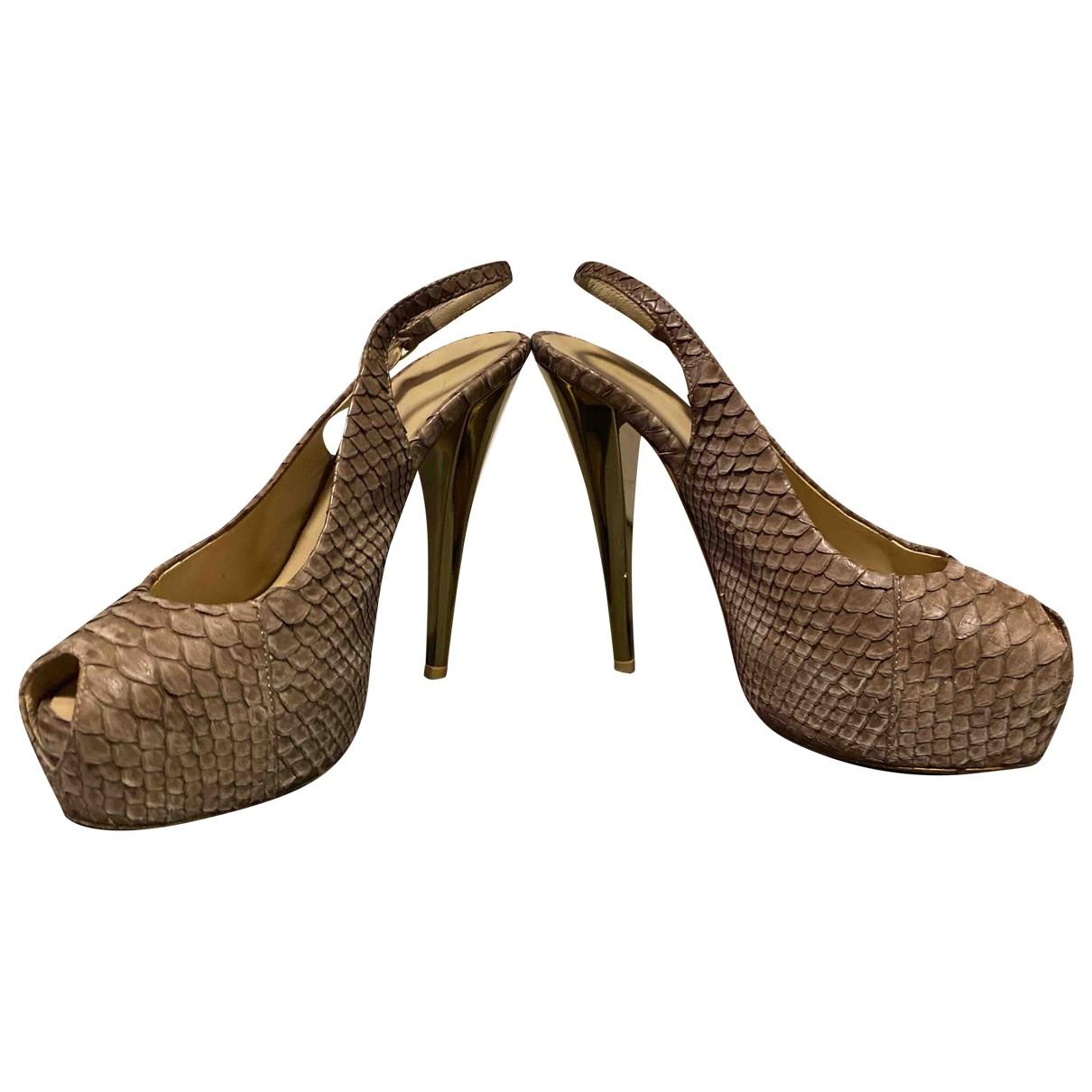 Giuseppe Zanotti \N Camel Exotic leathers Heels for Women 36 EU