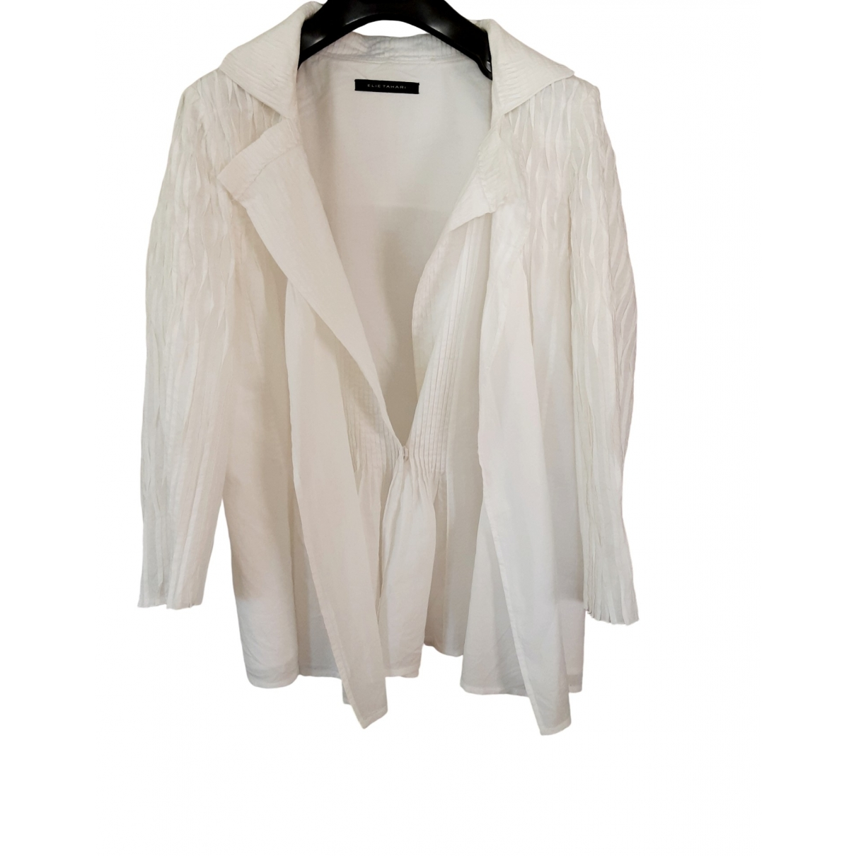 Elie Tahari - Top   pour femme en coton - blanc