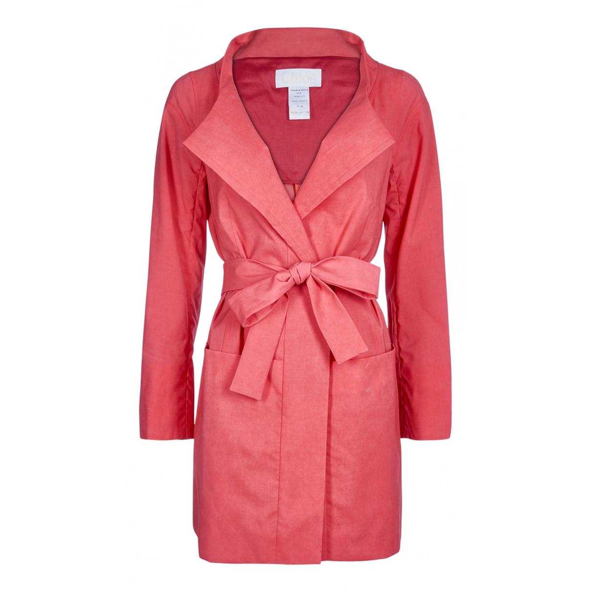 Chloé N Pink Velvet coat for Women 8 UK