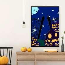 Wandmalerei mit Halloween Muster ohne Rahmen