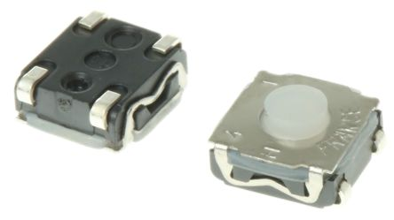 C & K IP67 Tactile Switch, Single Pole Single Throw (SPST) 50 mA 0.6mm Surface Mount (10)