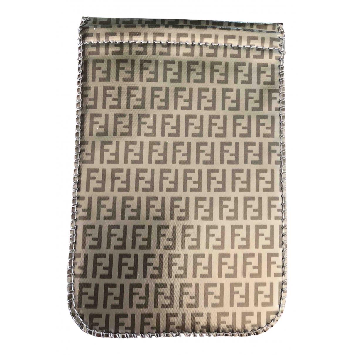 Fendi - Petite maroquinerie   pour femme en cuir - gris