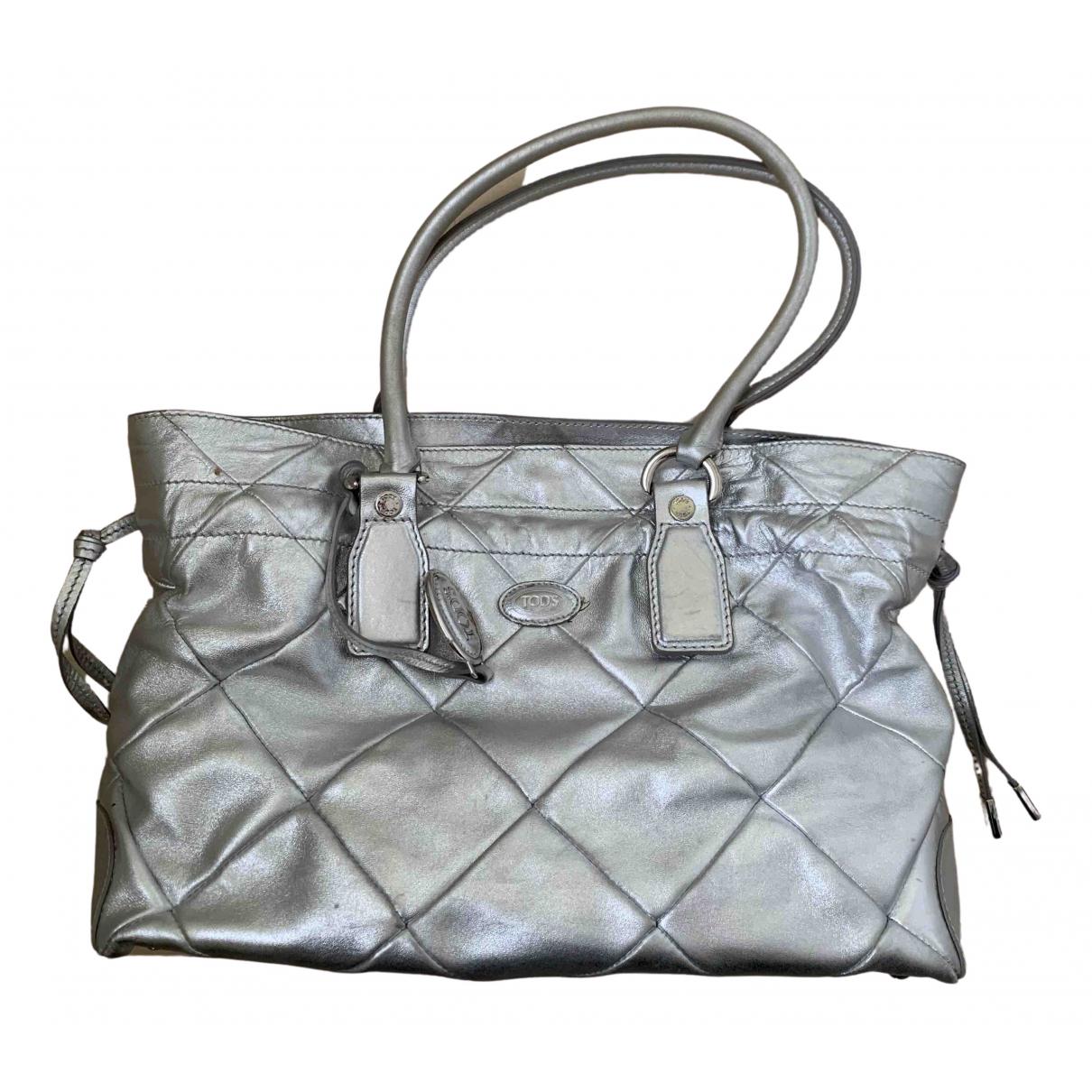 Tod's \N Silver Leather handbag for Women \N