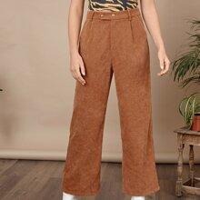 Pantalones palazzo con fruncido con cremallera