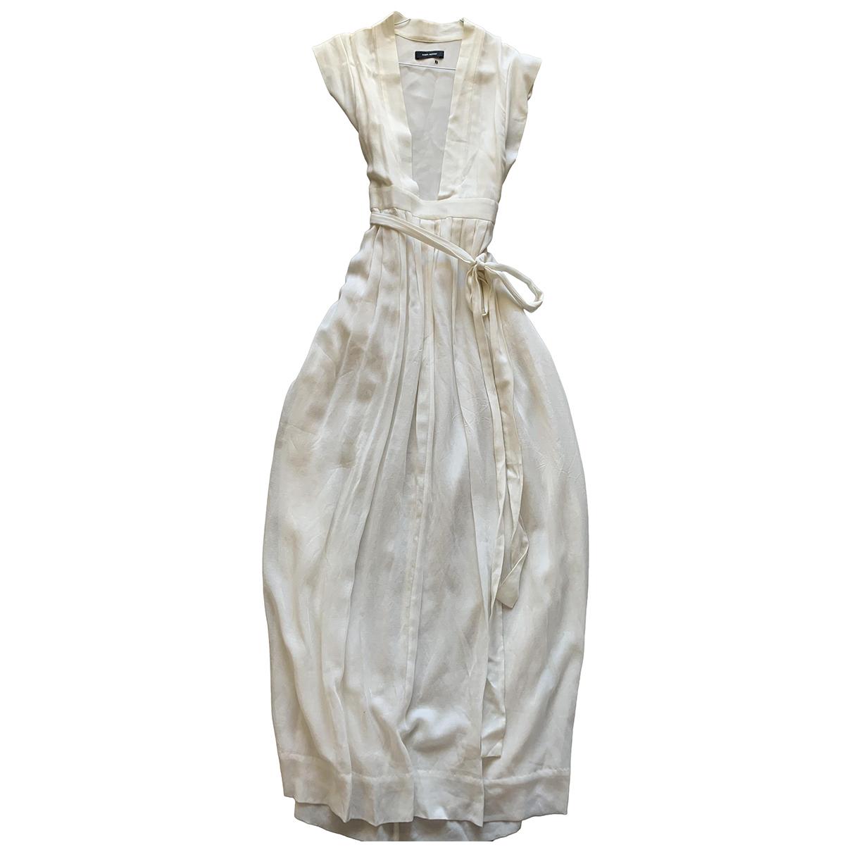 Isabel Marant \N Kleid in  Weiss Baumwolle