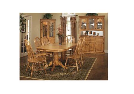 356099 42 X 84 X 30 Harvest Oak Hardwood Double Pedestal