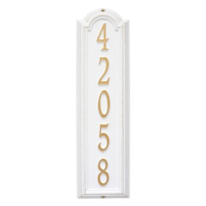 1286WG Personalized Manchester Vertical Wall Plaque in White and Gold
