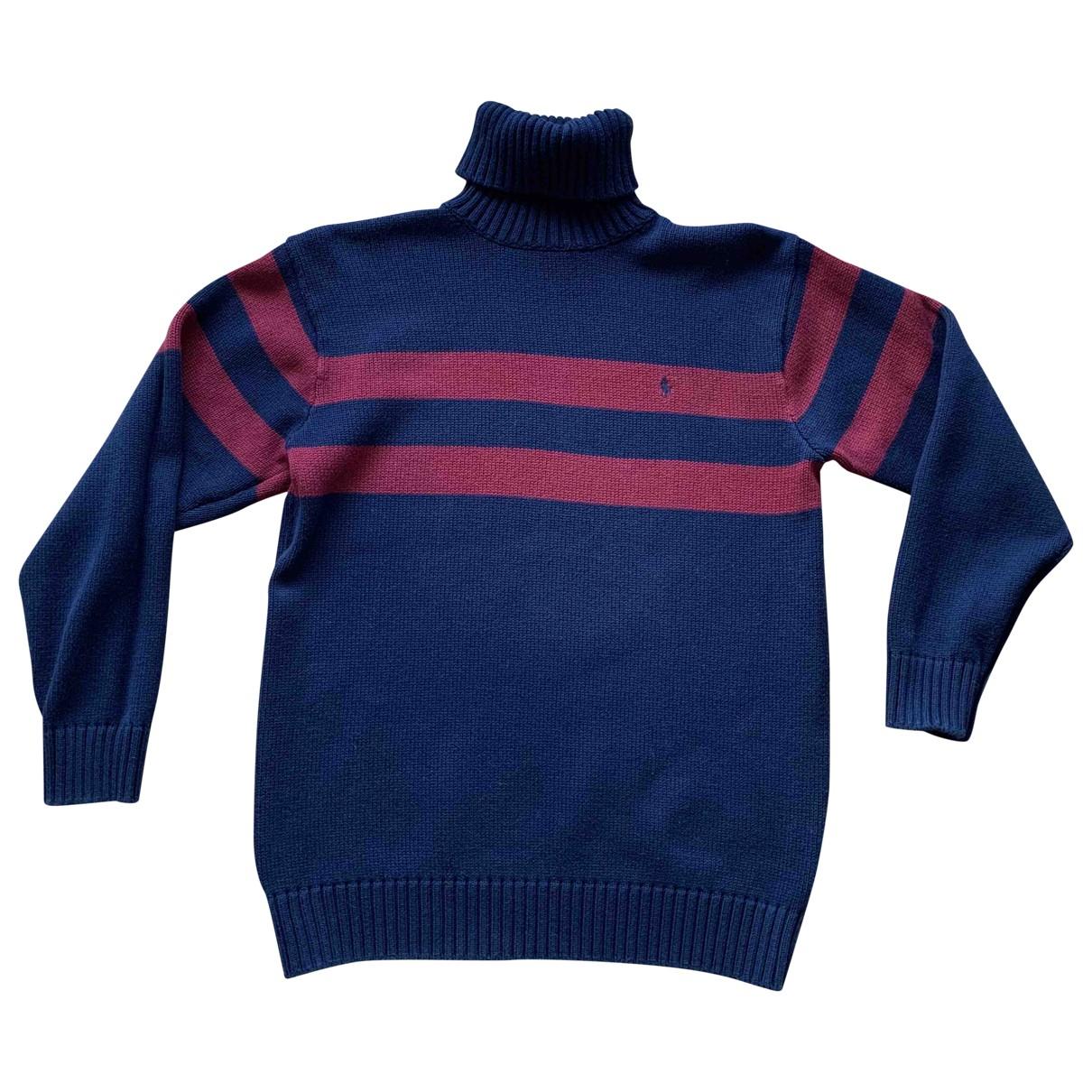 Polo Ralph Lauren - Pull   pour enfant en coton - marine