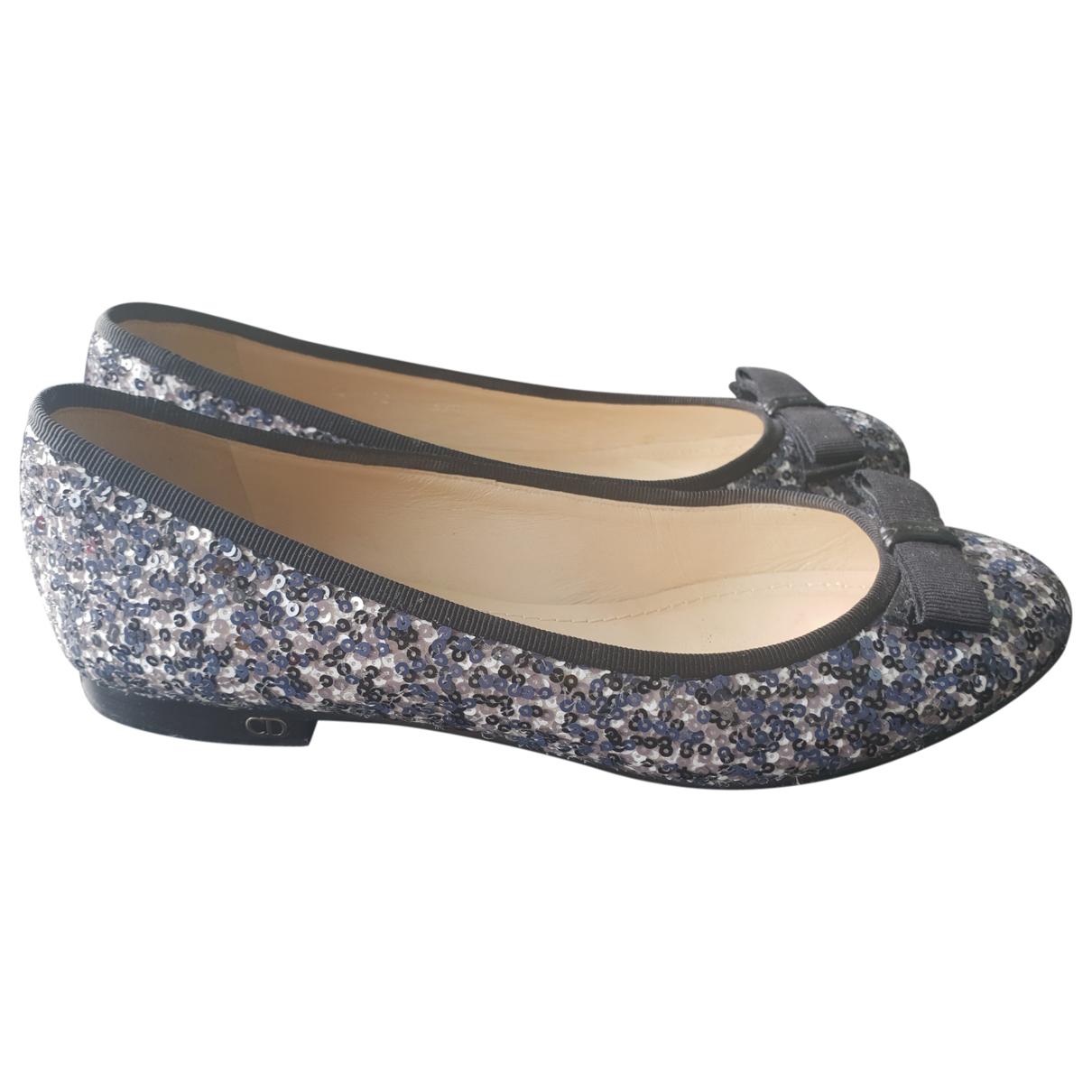 Dior \N Blue Glitter Ballet flats for Women 37.5 EU