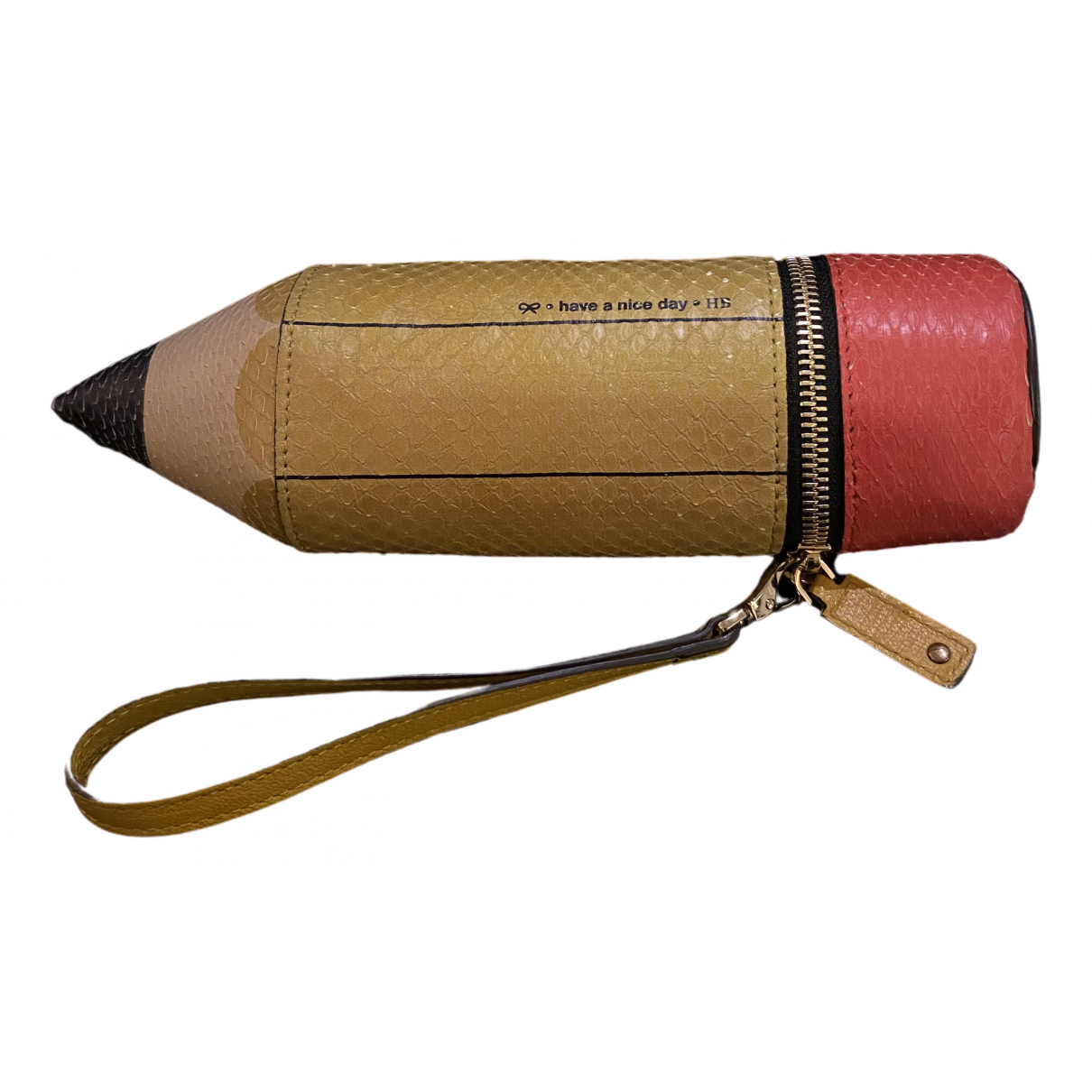 Anya Hindmarch \N Yellow Leather Clutch bag for Women \N