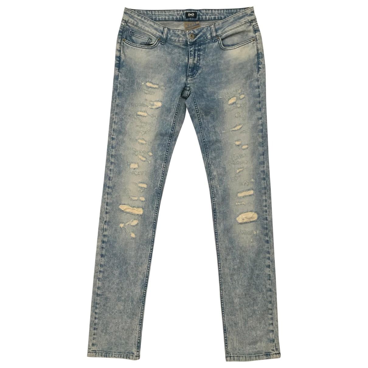 D&g \N Blue Cotton - elasthane Jeans for Women 30 US
