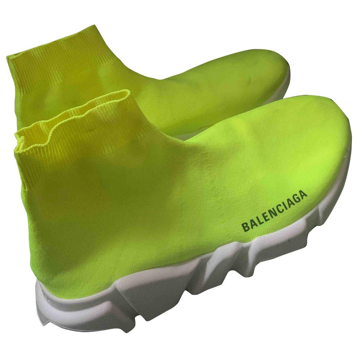 Balenciaga Speed Yellow Trainers for Women 38 EU